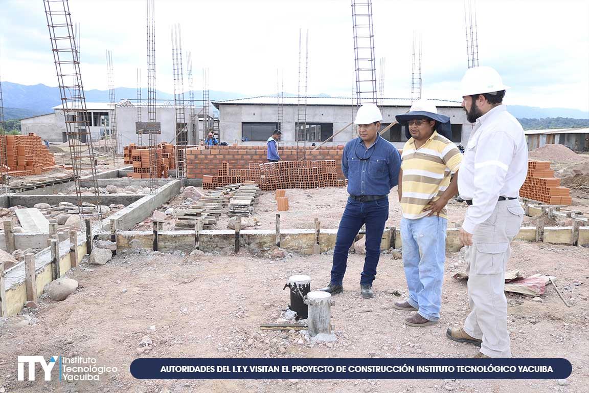 Autoridades del I.T.Y. visitan el proyecto de construcción Instituto Tecnológico Yacuiba