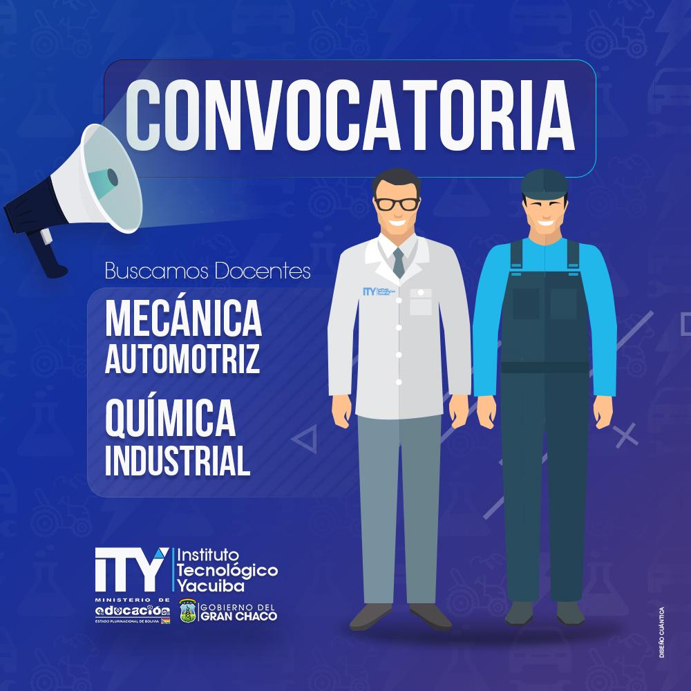 Convocatoria a Docentes Instituto Tecnológico Yacuiba I.T.Y.