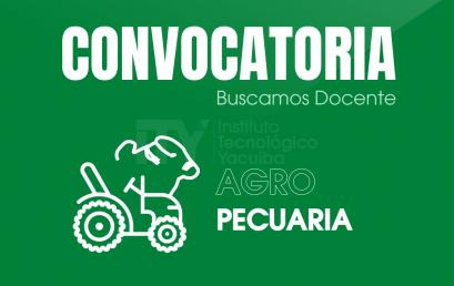 CONVOCATORIA ITY – CDO 004/2020 DOCENTE DE AGROPECUARIA | INSTITUTO TECNOLÓGICO YACUIBA I.T.Y.