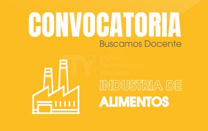 CONVOCATORIA ITY – CDO 005/2020 DOCENTE DE INDUSTRIA DE ALIMENTOS | INSTITUTO TECNOLÓGICO YACUIBA I.T.Y.