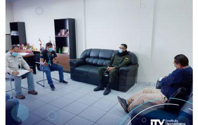 Reunión entre autoridades del I.T.Y., Director Departamental de Penitenciaria y el Gobernador del Centro de Readaptación Productiva de El Palmar